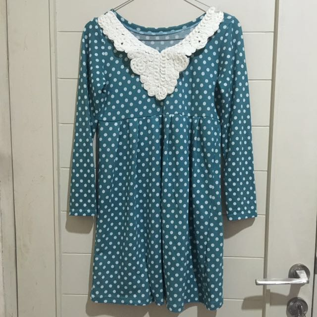 KOREAN SOFT KNIT BABYDOLL DRESS HAMIL MATERNITY