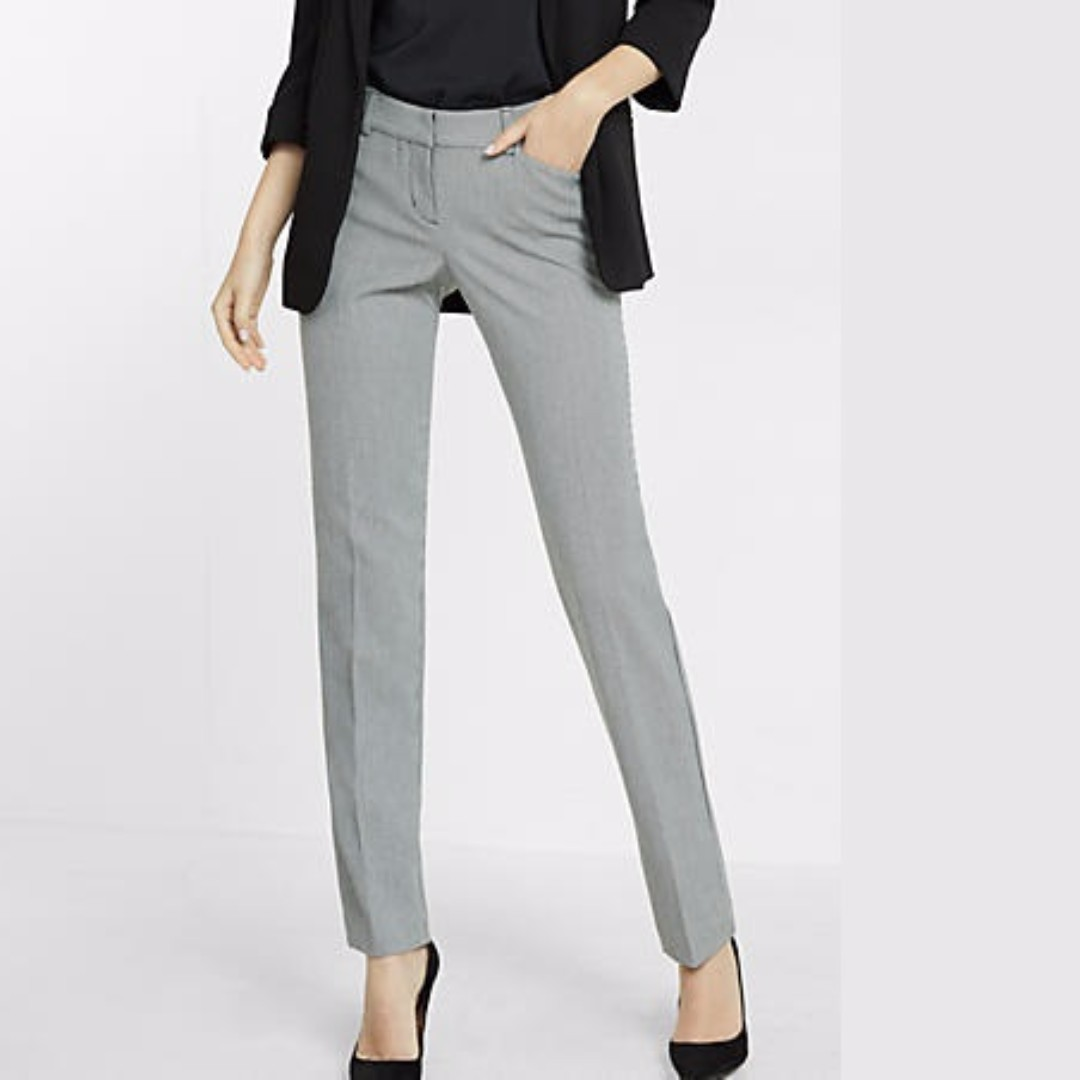 ee03dde6840882 Ladies Grey Cigarette Pants, Women's Fashion, Clothes, Pants, Jeans &  Shorts on Carousell