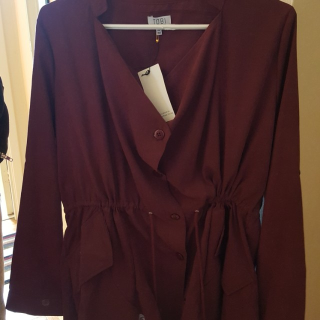Large purple jacket