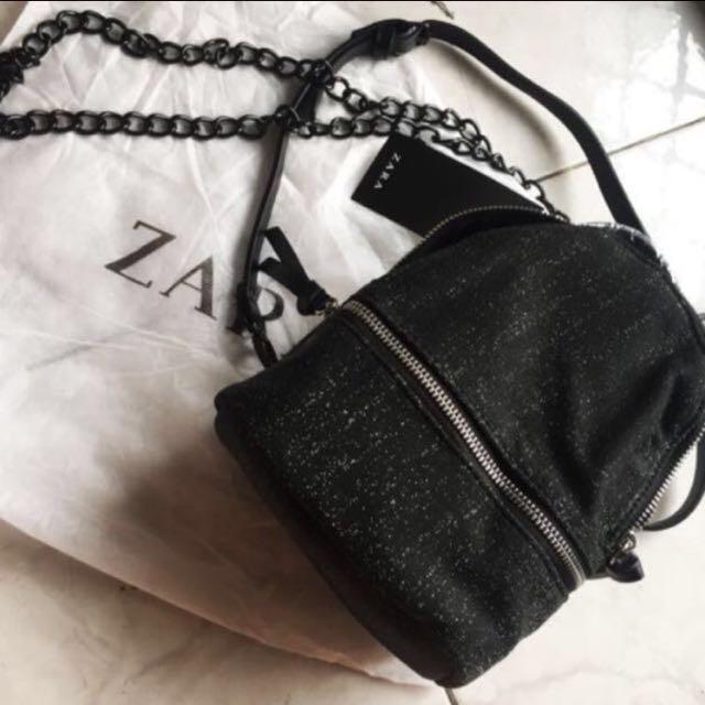 LAST CHANCE SALE🎉 ZARA Backpack Glitter Canvas