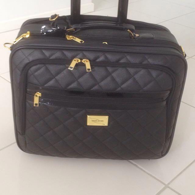 Laura Jones Wheeled Mobile Laptop Brief Case Luxury Bags Wallets On Carou
