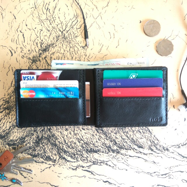 Leather Wallet /Customize +Name Emboss
