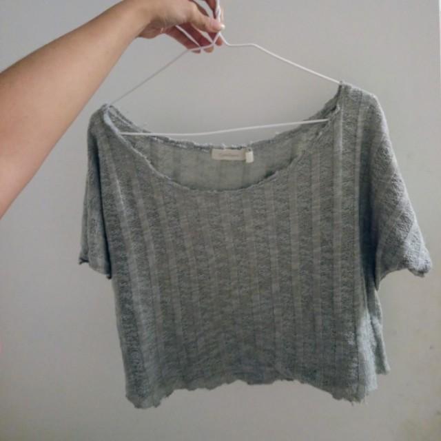 Light blue crochet top