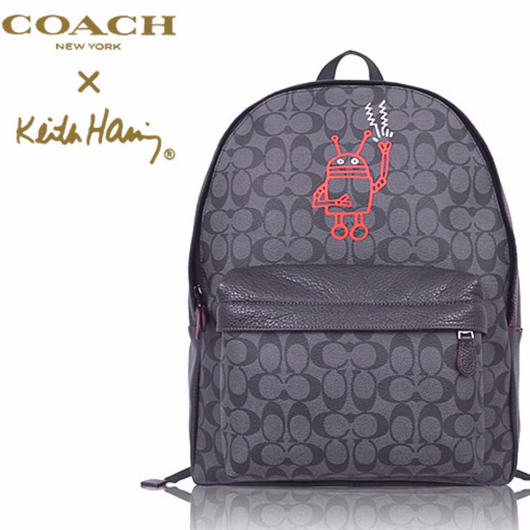 fa737d5a4dc8 Limited Edition! Authentic Coach F11701 Coach × Keith Haring ...