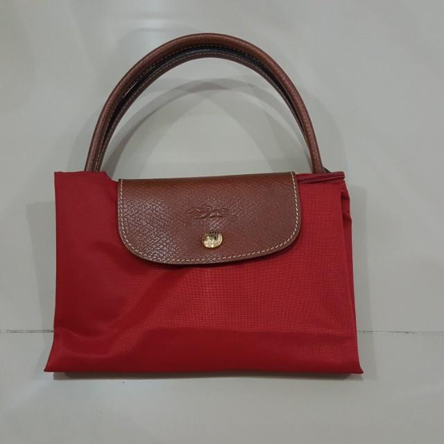 9bace6465177 Longchamp Le pliage red medium short handle last price rm200 ...