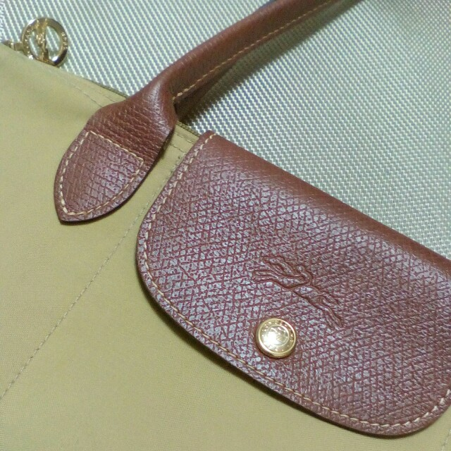 Longchamp長柄芥茉黃S
