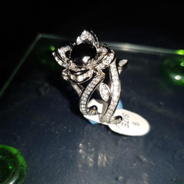 Lotus flower ring set