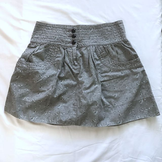 Mango Flower Gray Skirt