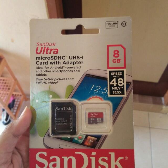 memory card 8gb + adapter