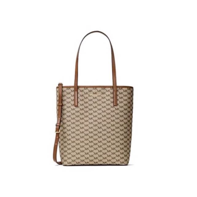 950644a1b3fa Michael Kors Emry Large Logo Tote - Natural/Luggage, Luxury, Bags ...