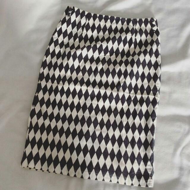 midi span skirt