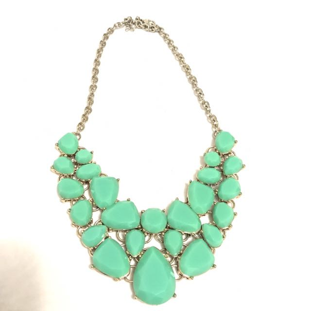 Mint green statement necklace