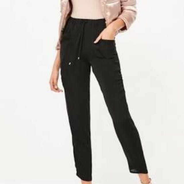 Misguided size 8 Satin drape tapered pants