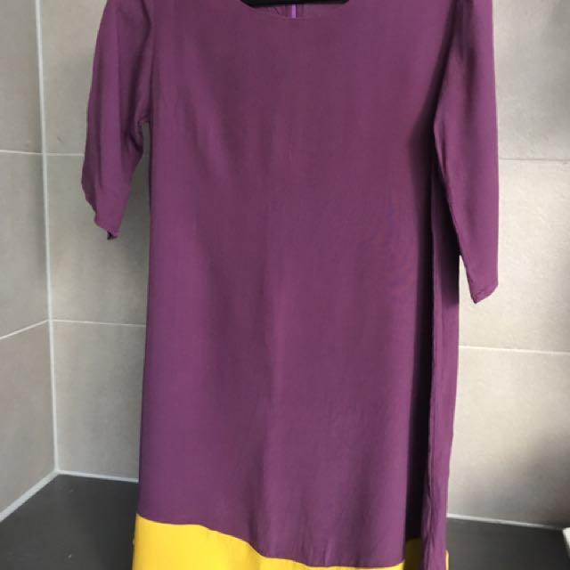 Mister Zimi Purple & Yellow Dress