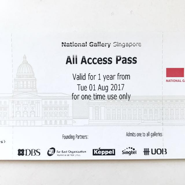 National Gallery Singapore Tickets All Access Passes