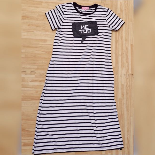 Ninety degrees tee stripe top