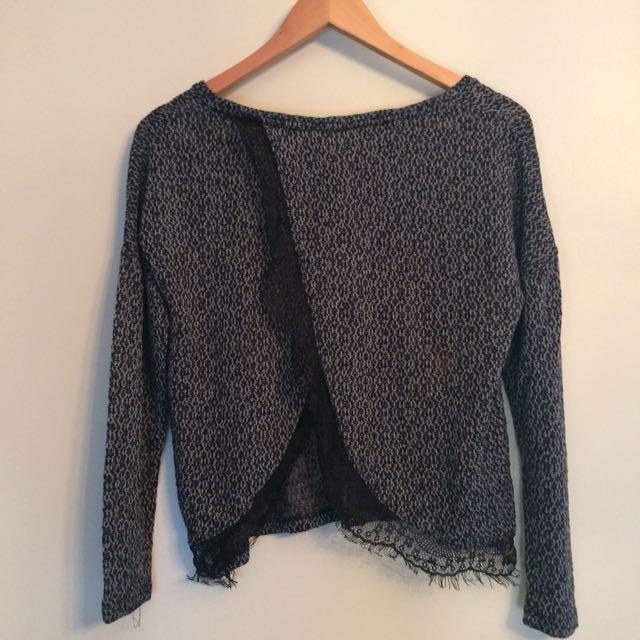 Open back wrap top/jumper