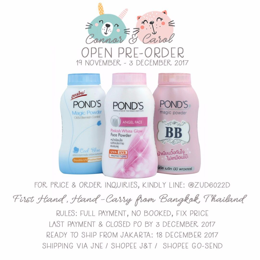 OPEN PO POND'S POWDER