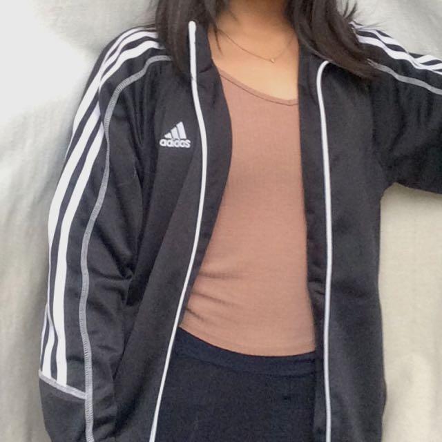 Oversized Adidas track jacket
