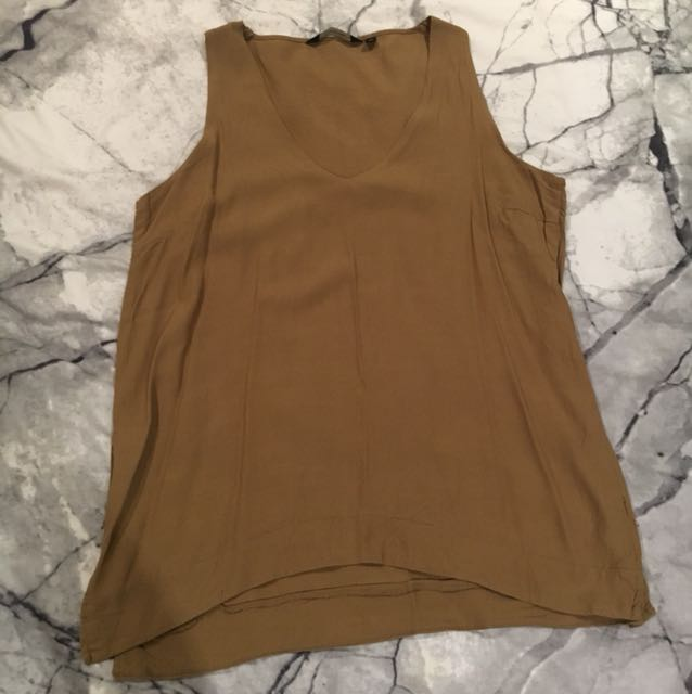 Oversized khaki top