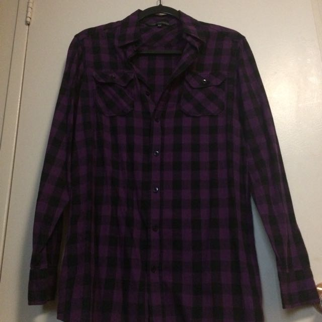 Plaid shirt S/M