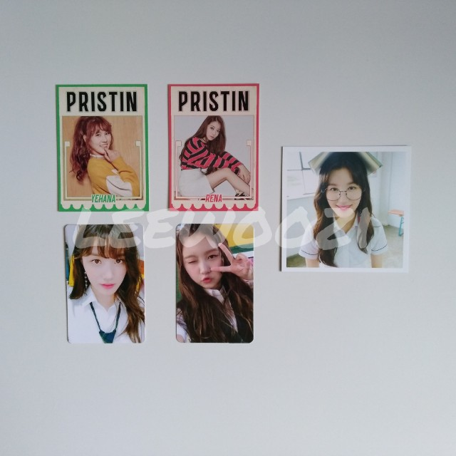 PRISTIN Photocards, Postcards and Profile Cards