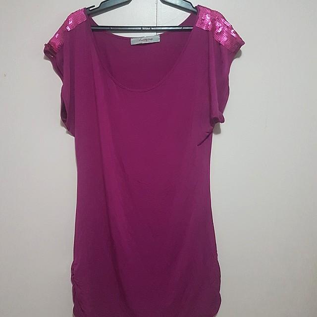 PRP purple dress with sequin details