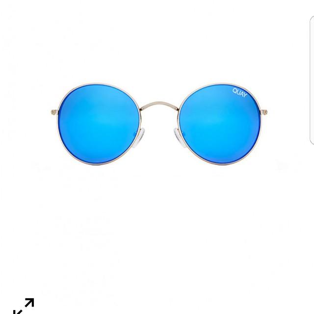 Quay Mod Star Sunglassess Silver/Blue