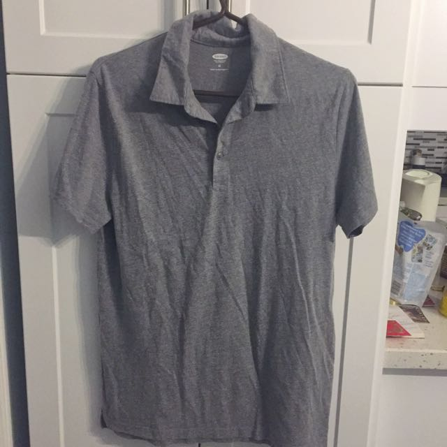 REDUCED Men's Grey Polo
