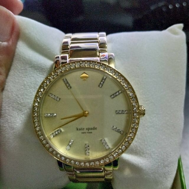 SALE! Kate Spade New York Gramercy Grand Large Pave Gold Gram Watch