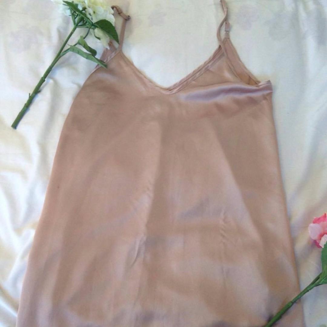 satin slip dress