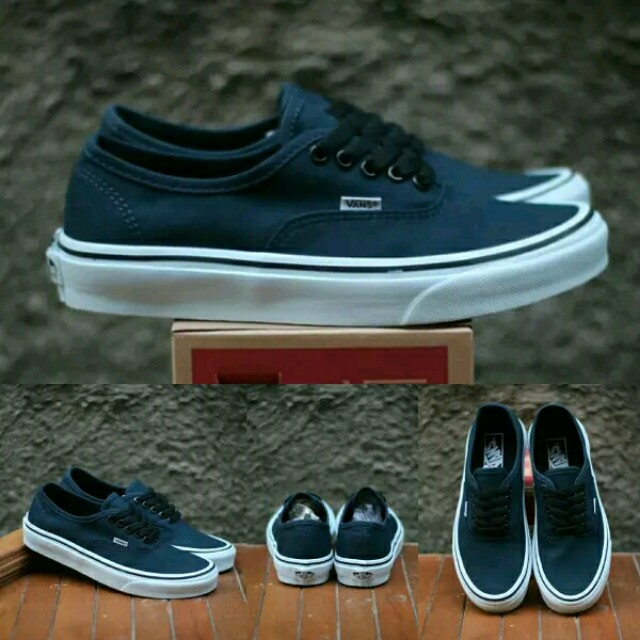 cea70b2d1d31 Sepatu Vans Authentic Classics Dress Blue Waffle DT BNIB Premium ...