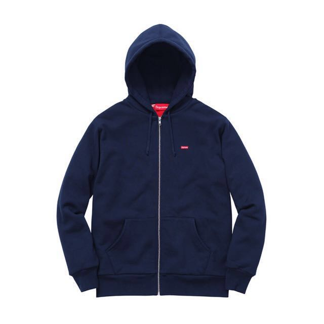 25cce1b0f827 Supreme Small Box Logo Hoodie In Navy