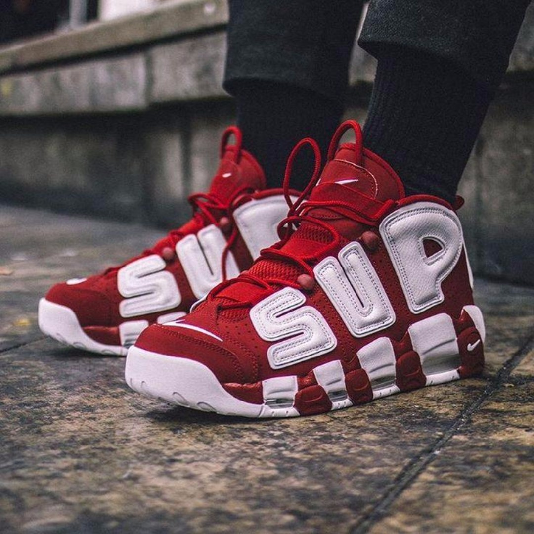 296a42c60df1 Supreme x Air More Uptempo Suptempo Red