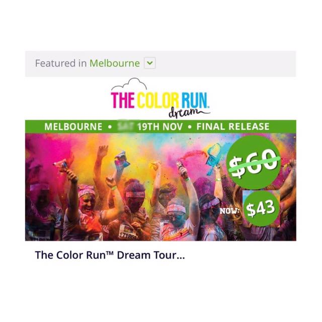 The Color Run Ticket