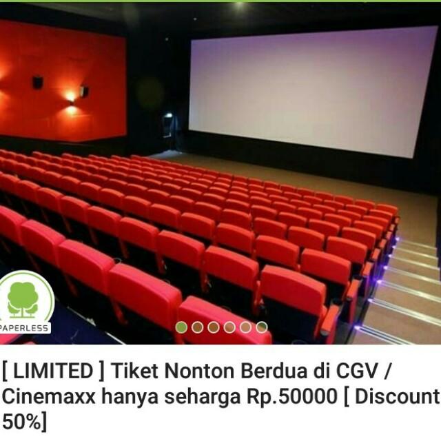 Tiket Nonton Cgv Cinemaxx Disc 50 Tickets Vouchers Events