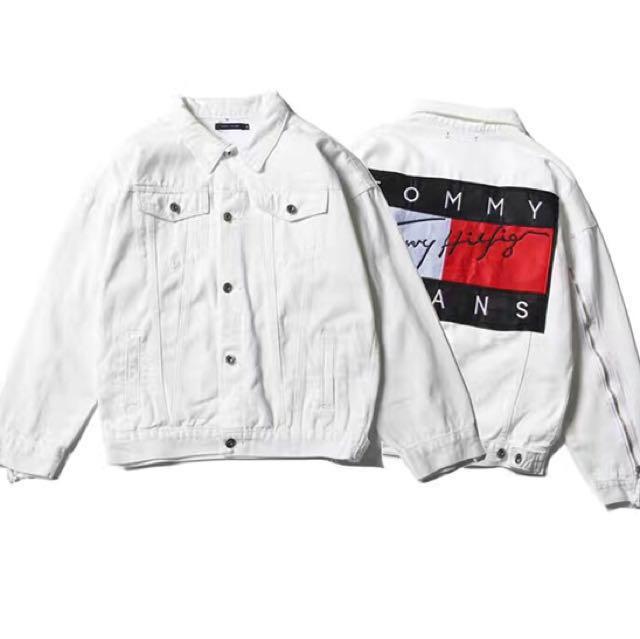 b9973cc41f19e Tommy Hilfiger Denim Jacket (White), Women's Fashion, Clothes, Outerwear on  Carousell
