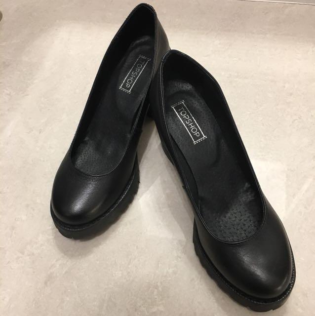 英國TOPSHOP 厚底粗跟鞋