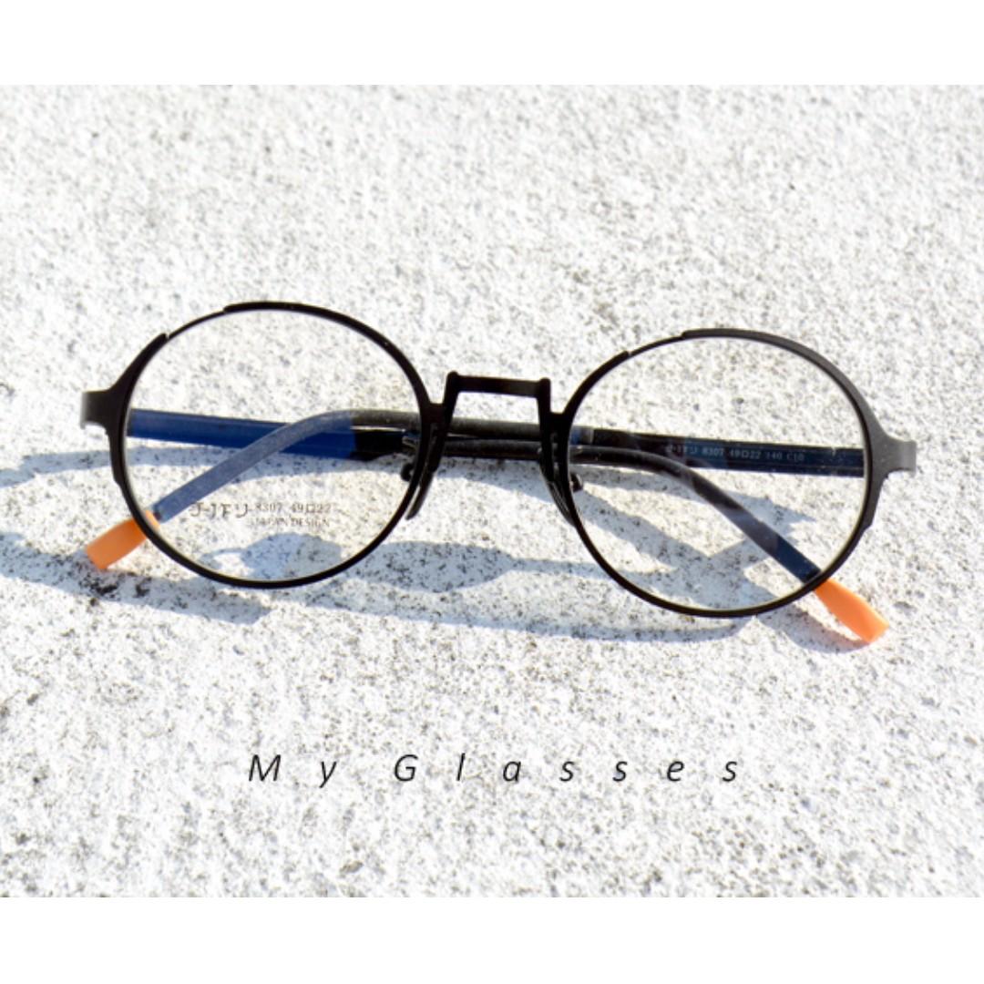 文青派圓框金屬眼鏡-韓版-TR90-鏡框-有彈性-墨鏡-Myglasses個人眼鏡