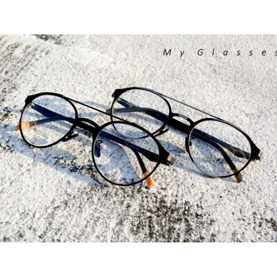 飛行員金屬眼鏡-韓版-TR90-鏡框-有彈性-墨鏡-Myglasses個人眼鏡
