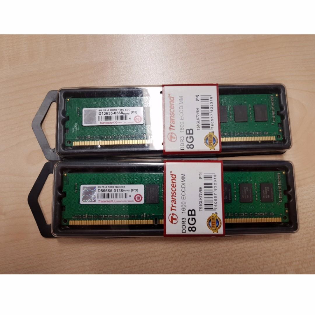 Last pcs !!! Transcend 8GB DDR3 RAM (1600 ECCDIMM)