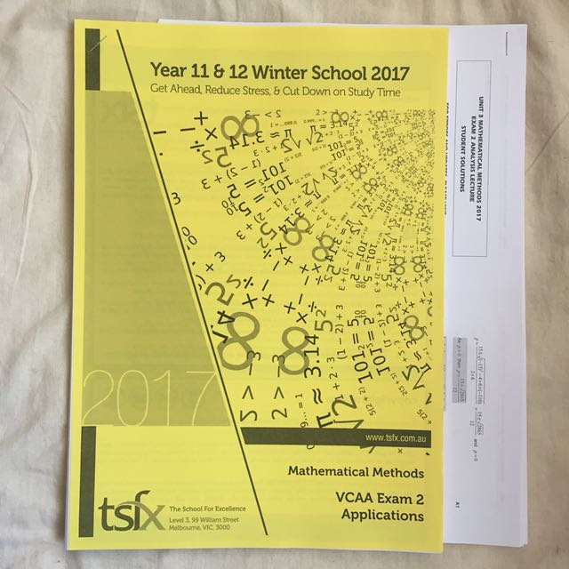 TSFX Mathematical Methods VCAA Exam 2 Application Notes