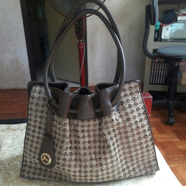 TWO NINE COLLECTION Genuine Italian Leather Woven Bag