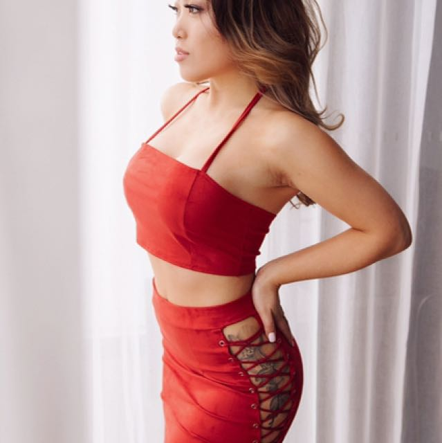 Two Piece Red Size Small (6-8)