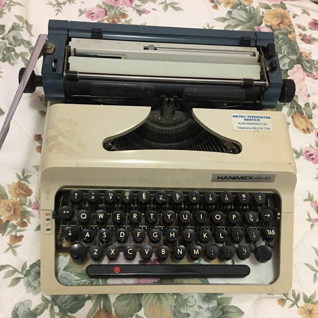 Typewriter HANIMEX ÉLITE 60