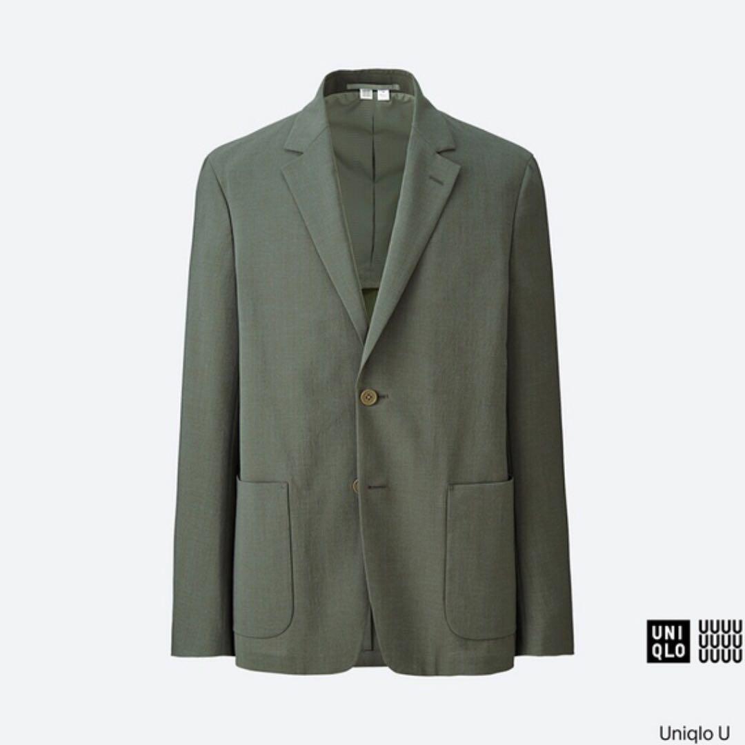 Uniqlo U系列(Lemaire總監)  輕型外套 (男裝) 西裝外套 綠 M 全新
