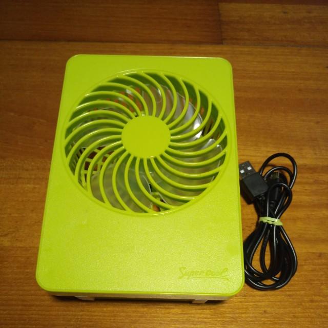 小小USB蘋果綠風扇