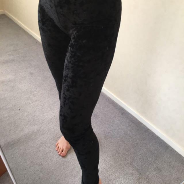 VELVET PANTS LEGGINGS