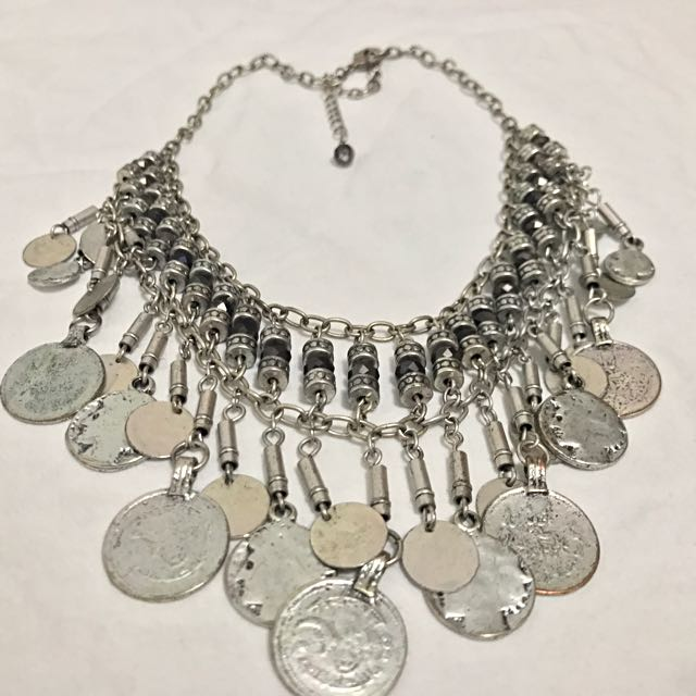 Vintage silver statement necklace
