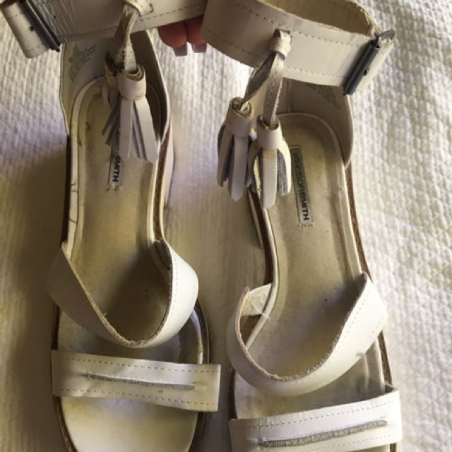 Windsor Smith Chunk white leather sandals